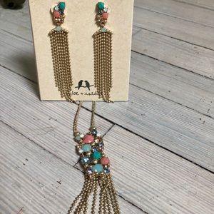 Mosaico Turquoise Necklace Earrings Chloe + Isabel